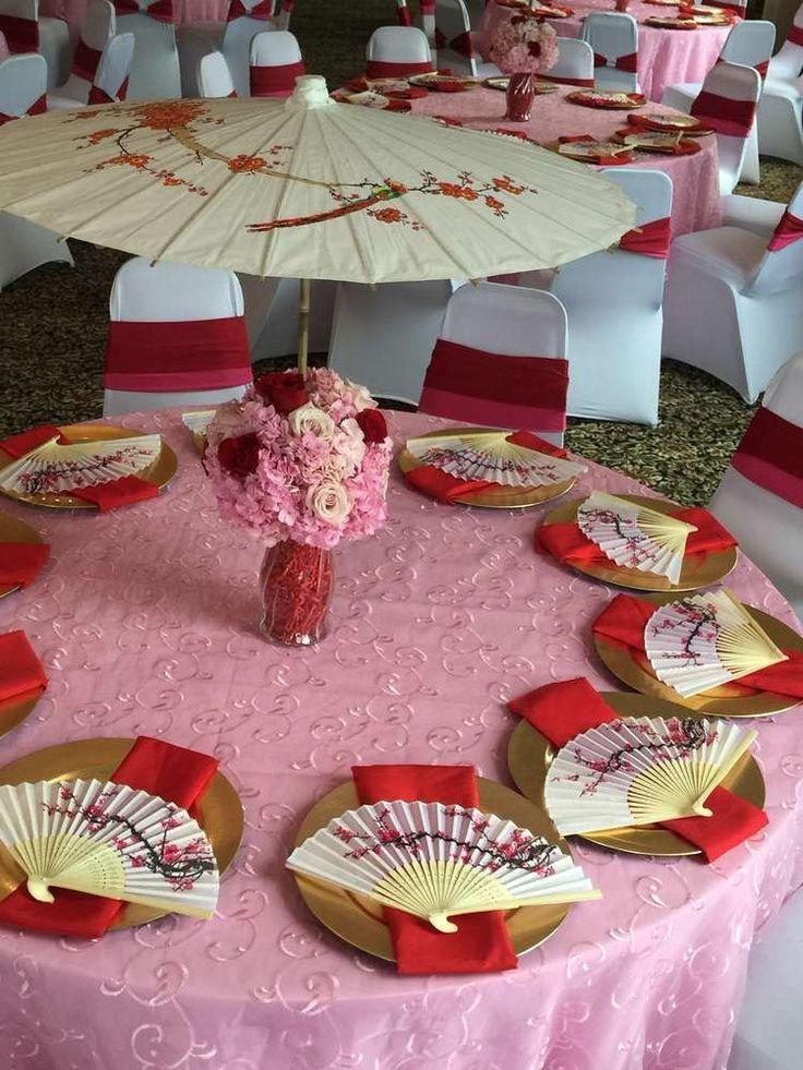 Decoration De Table Chinoise 2021 en 2020 Mariage thème