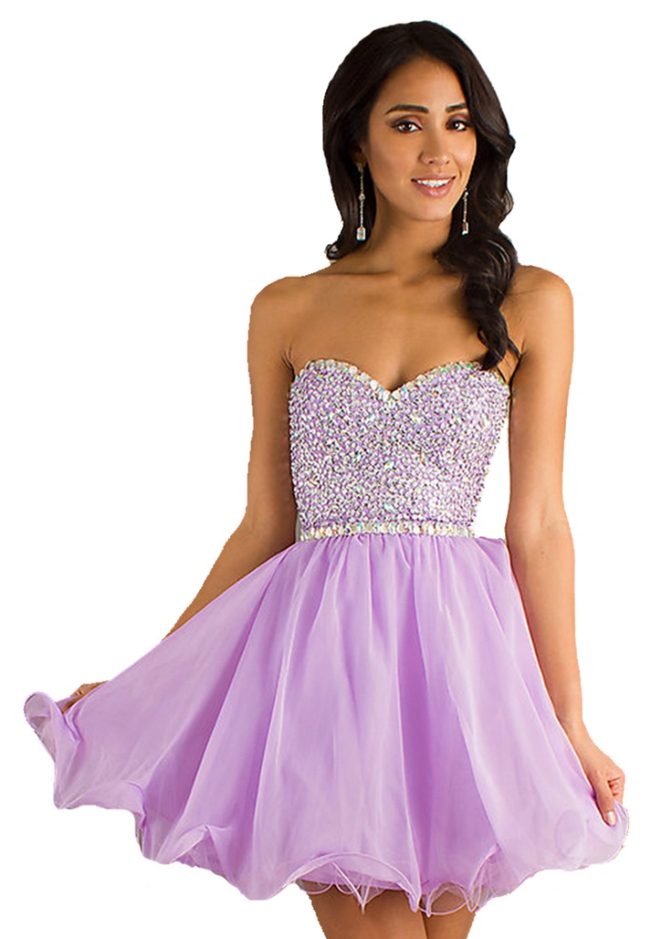 #lilac #prom #dress #short #sparkles #cute #fun