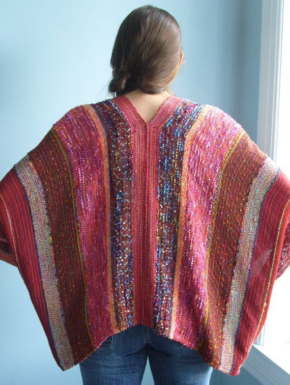 Handwoven Jacket / Shawl / Woven by barefootweaver