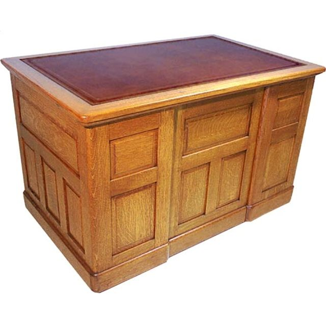 Oak writing desk with raised panels, carved pulls, and leather top.  Multiples available - 73 Best Antique Desks Images On Pinterest Antique Desk, Antique