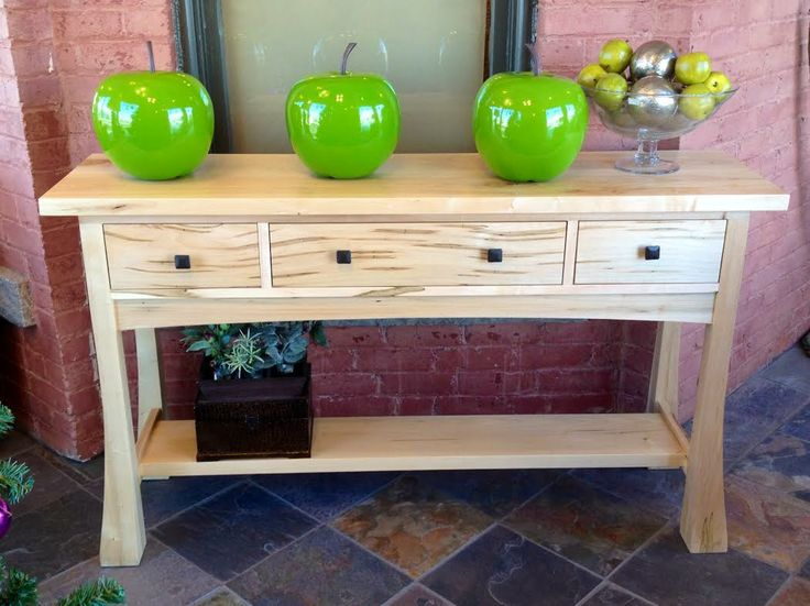 Bonza Sofa Table in Wormy Maple