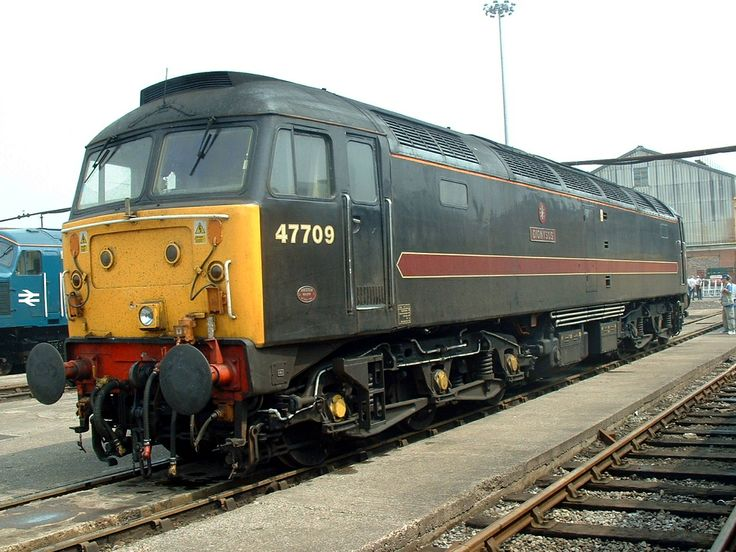 47709 (ex D1942, 47499) 'Dionysos' at Crewe Works on 31st May 2003. Built at Brush Traction, Loughborough and delivered on 16th June 1966. Named 'The Lord Provost' on 30th Sept 1979 to Nov 1990, then 'Dionysos' on 1st Aug 2001. Withdrawn on 31st Aug 2012 and cut up by Raxstar Ltd at Eastleigh depot in Sept 2012. (P.Wormstone)