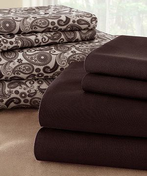 Look at this #zulilyfind! Brown Paisley Sheet Set by Colonial Home Textiles #zulilyfinds