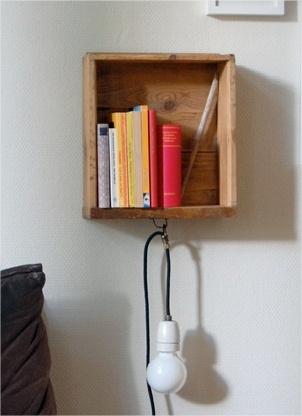 Furniture out of context... old drawer... new rustic shelf bookcase... - read more: http://myartistic.blogspot.com/2010/10/da-cassetto-mensola-da-parete-porta.html