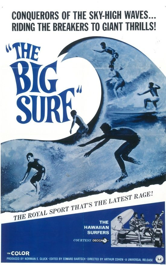 Old Surf Movie Poster.
