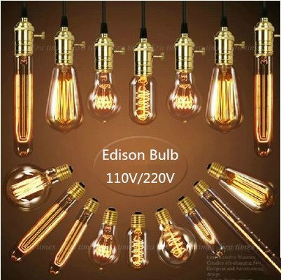 Find More Incandescent Bulbs Information about Antique Retro Vintage Edison Bulb Light E27 Incandescent Bulb ST64 G80 A19 Squirrel cage Filament Bulb Edison Lamp Home Decor,High Quality fixture store,China fixture light Suppliers, Cheap fixture from Zhongshan East Shine Lighting on Aliexpress.com