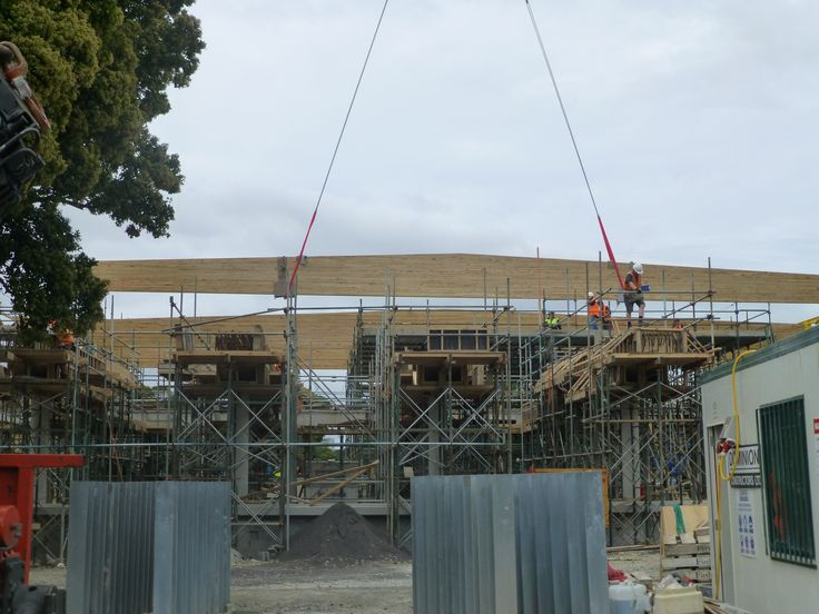 St Cuthbert's, Large Single Span Glulam Rafters