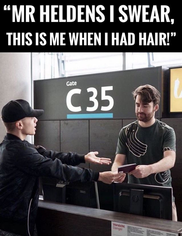 """Mr Heldens I swear, this is me when I had hair!""😂  #headhunterz #heady #oliverheldens #growyourhairheady😂"