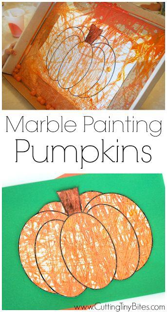 Pád nebo proces malování Halloween umění pro děti