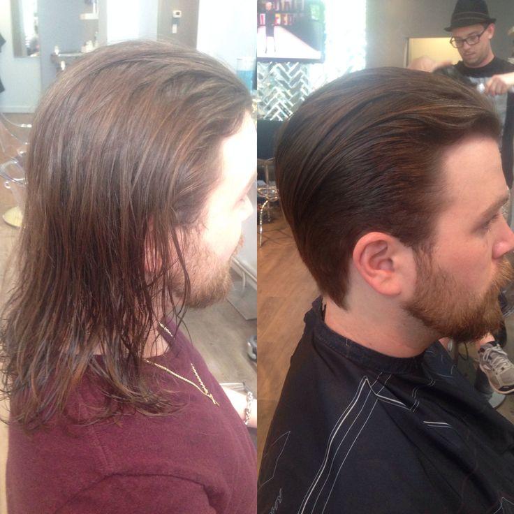 Men's Long Hair To Short Hair Transformation. In 2019