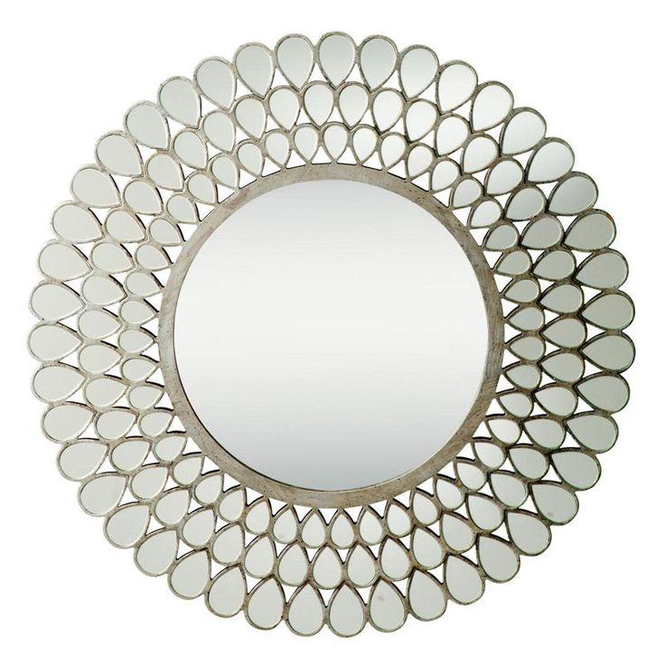 36 Inch Round Mirror Part - 24: Teardrop Antique Silver Wall Mirror - 35 Diam.in. (by Kichler Lighting;