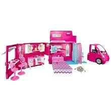 Camping Car Barbie – Mattel – Poupée Barbie  Le camping car de barbie qui se trnsforme enti§relebt en chambre