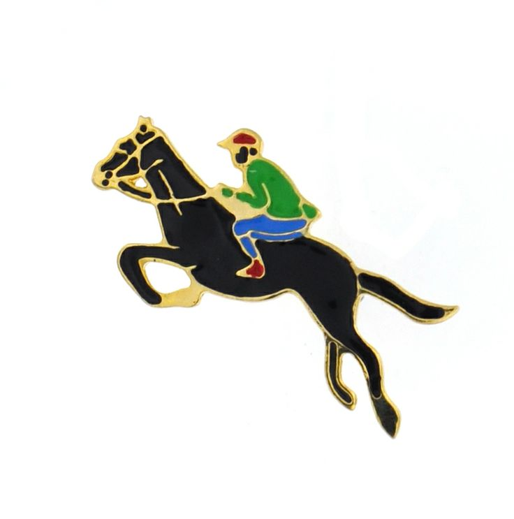 Gold jumping horse brooch. Perfect for the equestrian lover in your life. Now only $5!