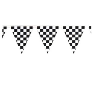 """Checkered Outdoor Pennant Banner (18"""" x 120')"""