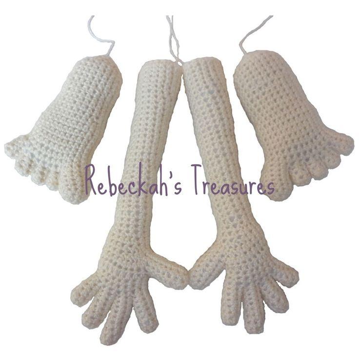 WIP Crochet Amigurumi Dolly by Rebeckah's Treasures ~ Hands and Feet