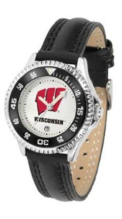 Wisconsin Badgers NCAA Womens Leather Wrist Watch by SunTime. $72.95. Showcase the hottest design in watches today! A functional rotating bezel is color-coordinated to compliment your favorite team logo. A durable long-lasting combination nylon/leather strap together with a date calendar round out this best-selling timepiece.