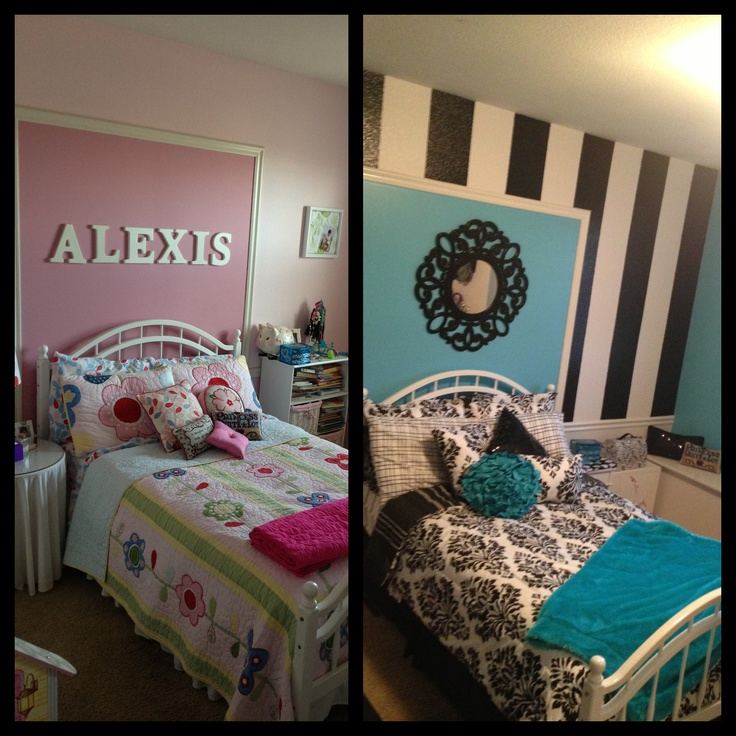 My Daughters BEFORE-AFTER Bedroom Remodel Pottery Barn