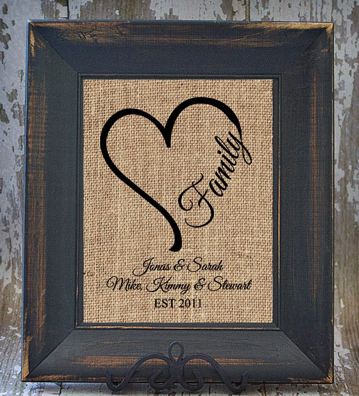 HEART FAMILY rustic wedding blended family Name by Studio44Designs, $20.00