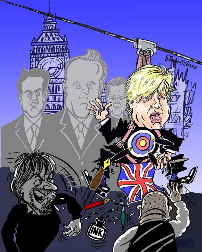 Political Cartoon by cartoonist in London
