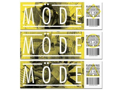Mode ticket design