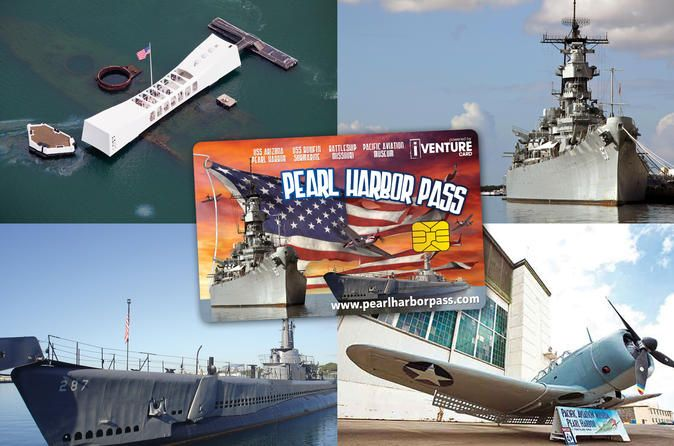 Pearl Harbor Pass Explore one of the most important monuments of Hawaii's history with this Pearl Harbor Pass. The Pearl Harbor Pass includes entry to the USS Missouri Battleship, the USS Bowfin Submarine, a USS Arizona Memorial and Pearl Harbor Shuttle. Plus choose 1 of 4 other top attractions in and around Honolulu to visit.Explore the fascinating history of Pearl Harbor for one low price. Take the USS Arizona Audio Tour, visit the USS Missouri, and learn about the history ...