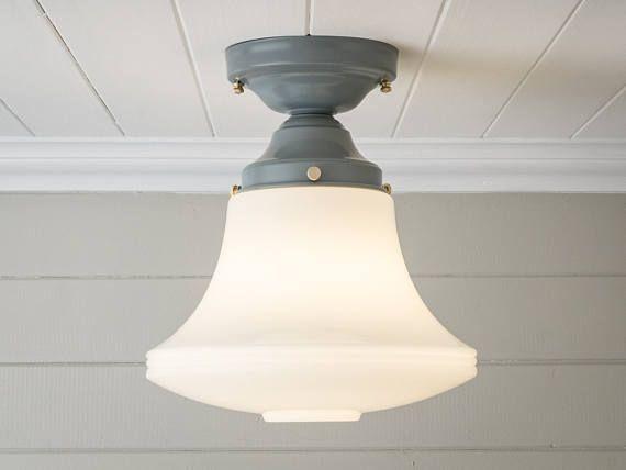 Semi Flush Ceiling Lights Glass Brass Fixture Bathroom: 25+ Best Ideas About Farmhouse Ceiling Lighting On
