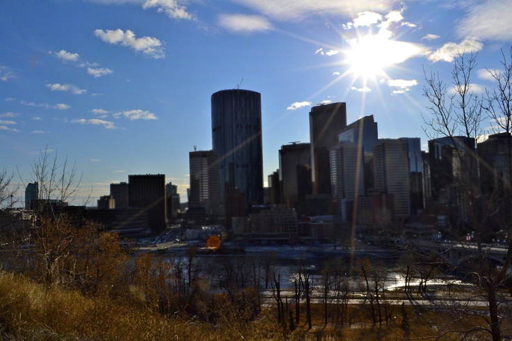 Calgary, Alberta. City view.  Landscape photography