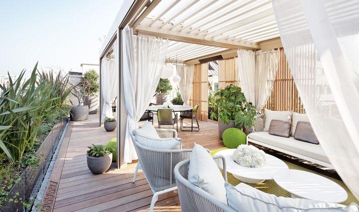 Terrasse du Mandarin Oriental Paris / Agence Christophe Gautrand & Associés Paysagistes