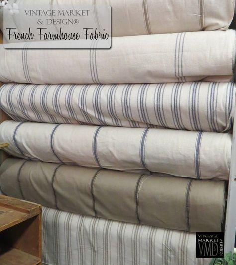 French Farmhouse Fabric (12 styles!) , Farmhouse Decor - Vintage Market And Design, Vintage Market And Design - 2