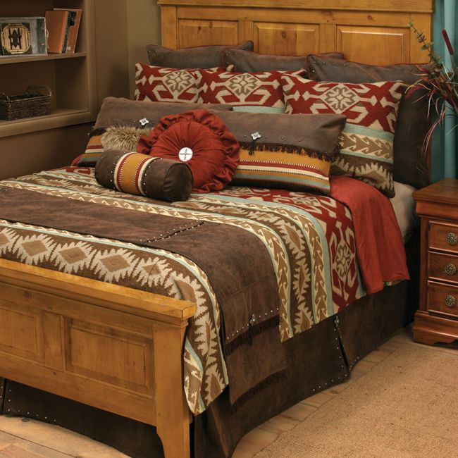Adobe Vista Bedding Collection With A Southwestern Style Drawing From Native American Patterns The Be Rustic Cabin Bed Frames