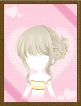 Braided Side Bun (Ash)Shall we date?: Blood in Roses+【Special Dating】 Paw-fect Valentine