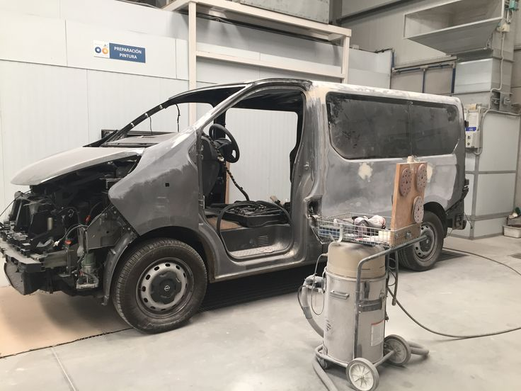 Preparación pintura #OpelVivaro
