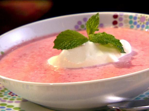 Disney World s Strawberry Soup from Food.com:   								We tried this wonderful chilled soup at the Grand Floridian resort in Disney World. My daughter absolutely loved it! I came across this recipe on a site that lists recipes from Disney.