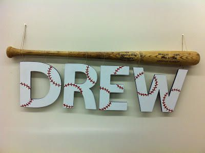 Baseball Decor Cute Idea For A First Homerun Use The Bat They Used To Hit ItOMG Aiden Would Have Stroke