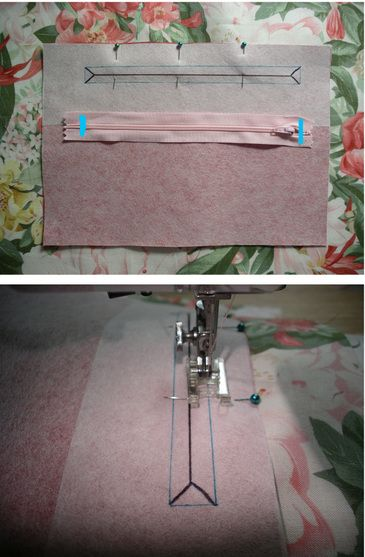 sewing zippers in bags