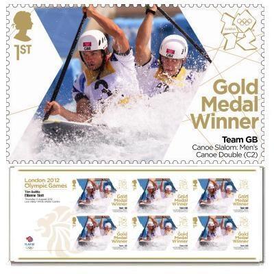 Gold Medal Winner stamp - Tim Baillie & Etienne Stott, Men's Canoe Double (C2)