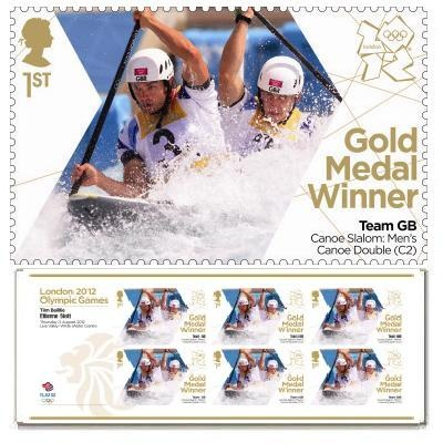 Gold Medal Winner stamp - Tim Baillie & Etienne Stott, Men's Canoe Double (C2)
