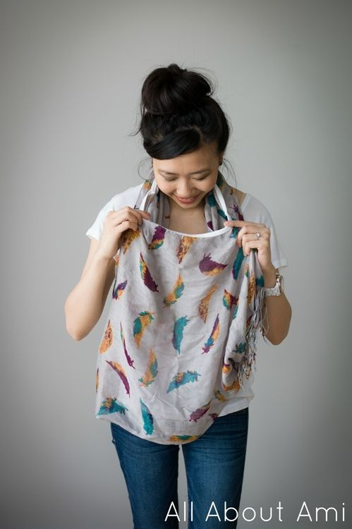 Nursing cover scarf and clothes and postpartum style- love her simplified style