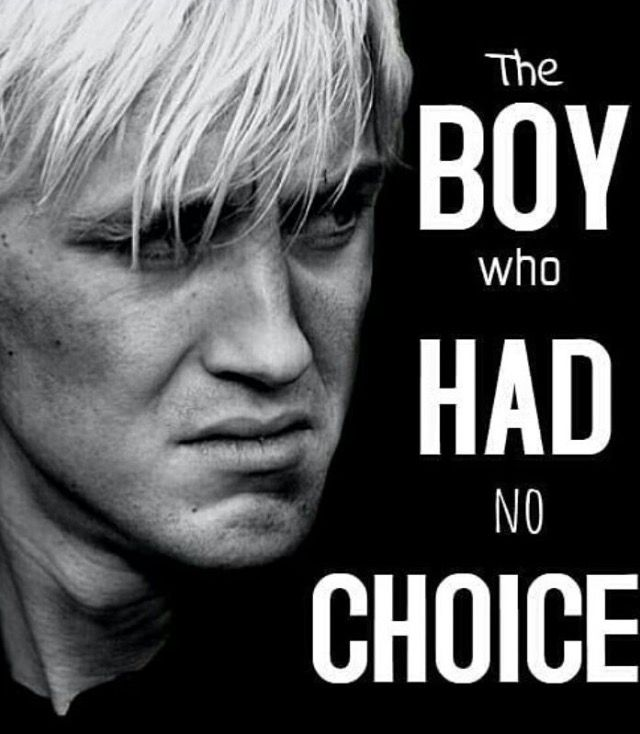 Draco Malfoy , poor guy had no choice!! He was afraid of doing the right thing he just needed a bunch of true friends to be a good person.... I wish i was in the Harry Potter book to help Draco