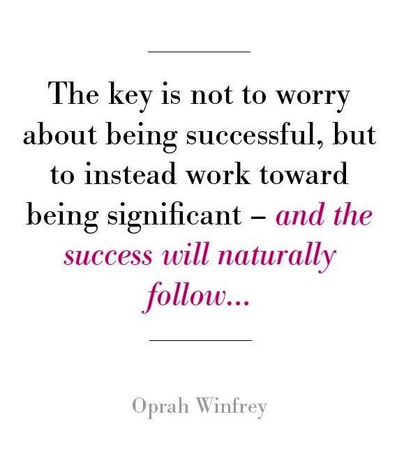 Success will follow...