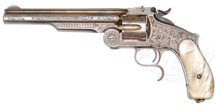 Lot 1397. SCARCE ENGRAVED SMITH & WESSON NO. 3 2ND MODEL RUSSIAN SINGLE ACTION REVOLVER. (47821)