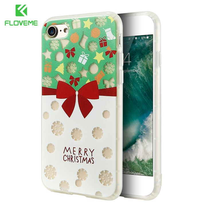 FLOVEME Christmas Phone Cases For iPhone 7 6 6s Soft Silicone Fashion Cute Glow Phone Cover For iPhone 6 6s 7 Plus Case Capinhas //Price: $3.99 & FREE Shipping //     #hashtag3