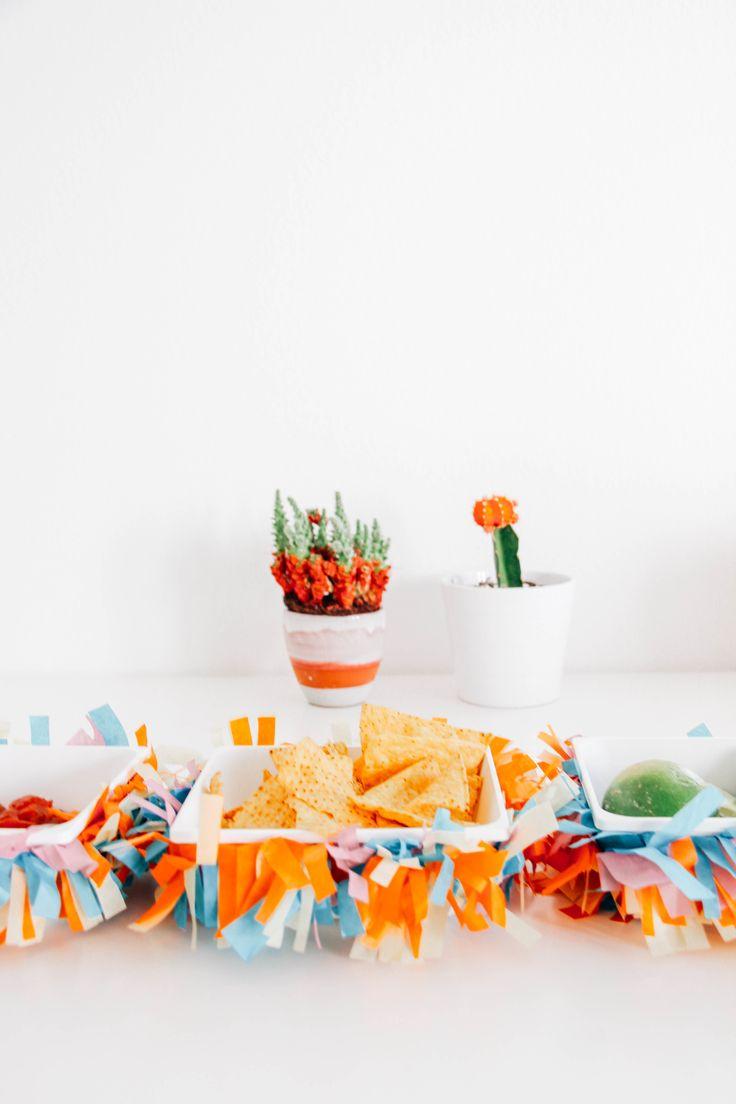 DIY Fiesta Chip and Dip Bowl