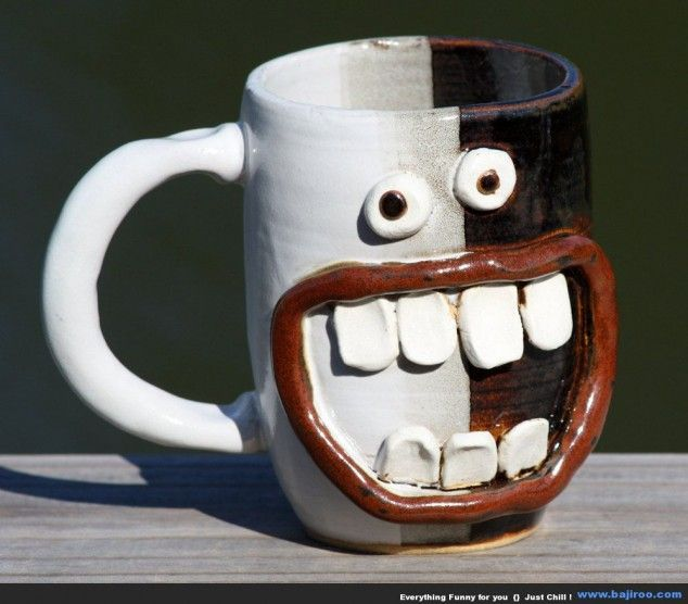 20 creative and unique coffee mugs ceative design pinterest the morning creative and happy - Funny coffee thermos ...