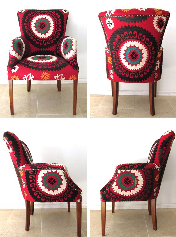 Arm Chair Covered With Suzani
