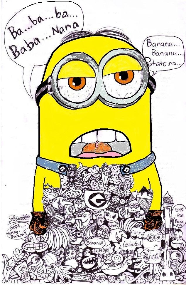 Banana Minion39s Doodle not good at doodle but i39ll try