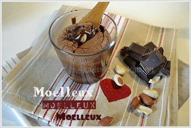 Recette du moelleux au chocolat et caramel de cacahuète huuum