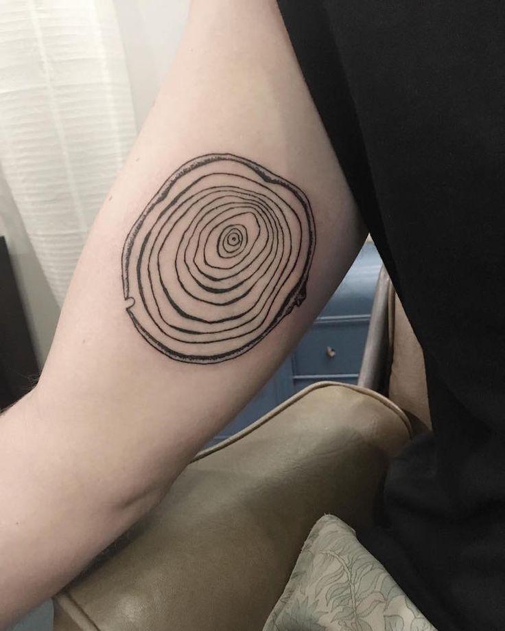 tree rings tattoo