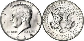 most collectible us  coins   Most Valuable Kennedy Half Dollar 1964-Date Silver Clad Coin Values