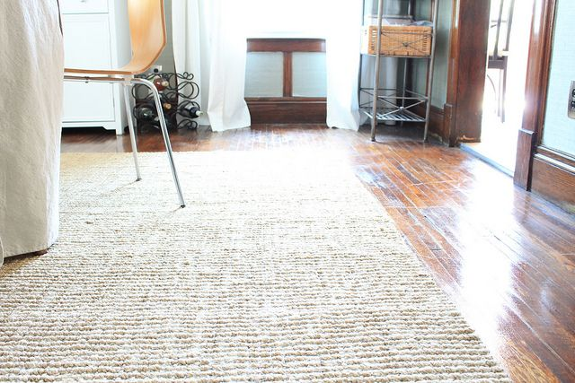 Jute rug dark floor for the home pinterest jute for Rugs for dark floors